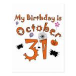 Halloween cumpleaños 31 de octubre postal