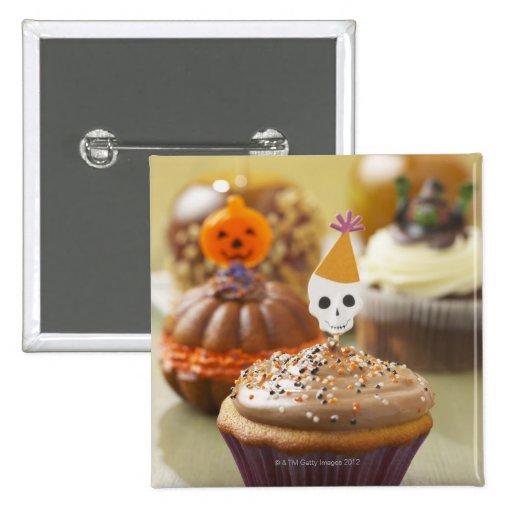 Halloween cupcake buttons