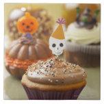 Halloween cupcake ceramic tile