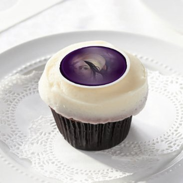 Halloween Themed Halloween Cupcake/Cookie Decorations MARIE LAVEAU Edible Frosting Rounds