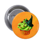 Halloween Cupcake full of tiny spiders Button