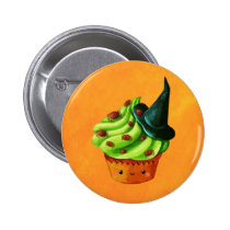artsprojekt, halloween, cupcake, halloween cupcake, spiders, halloween dessert, halloween gift, cute halloween, cute food, cute cupcake, witch, witch gift, witch present, halloween present, cupcake gift, cupcake presen, trick or treat, halloween idea, halloween design, cute dessert, kawaii cupcake, kawaii, kawaii halloween, Button with custom graphic design