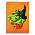 Halloween Cupcake full of tiny spiders Card