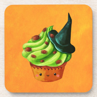 Halloween Cupcake full of tiny spiders Coaster