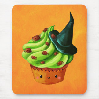Halloween Cupcake full of tiny spiders Mouse Pad