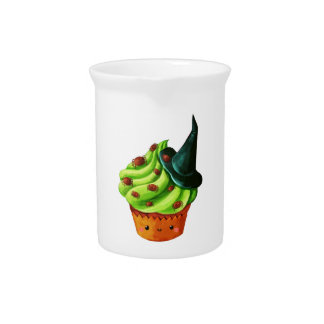 Halloween Cupcake full of tiny spiders Drink Pitchers