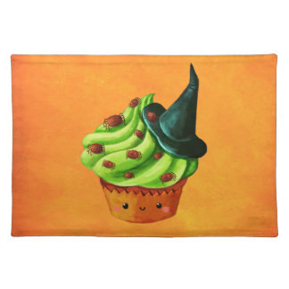 Halloween Cupcake full of tiny spiders Placemat
