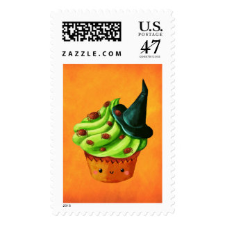 Halloween Cupcake full of tiny spiders Postage