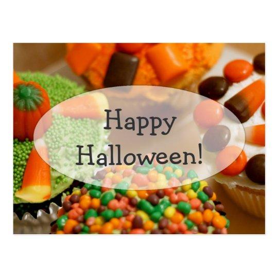 Halloween Cupcake Fun Postcard