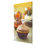 Halloween cupcake gallery wrap canvas