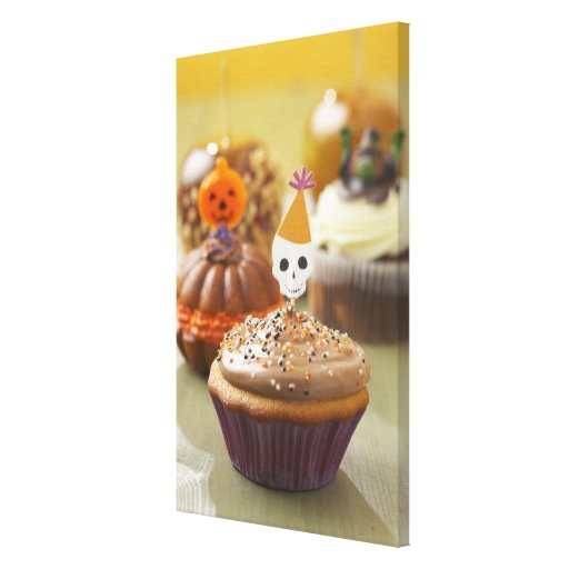 Halloween cupcake gallery wrap canvas