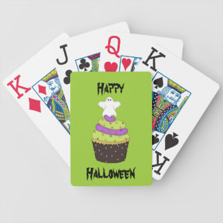 Halloween Cupcake Ghost Bicycle Playing Cards