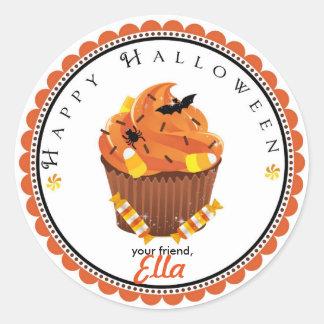 Halloween cupcake goodie bag favor stickers