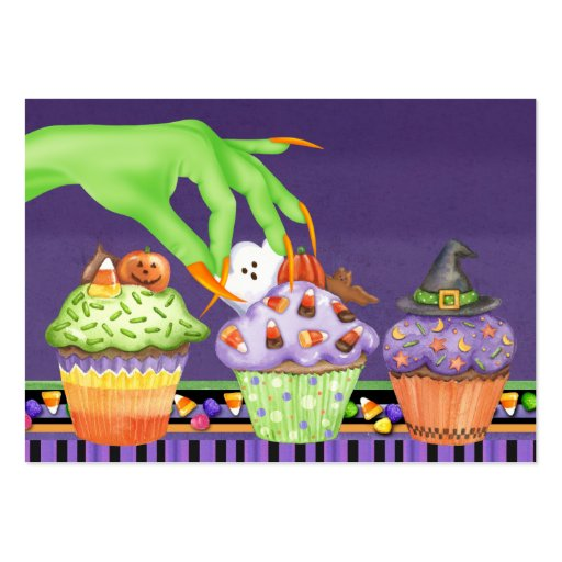 Halloween Cupcake Kitchen Card - SRF Large Business Cards (Pack Of 100)