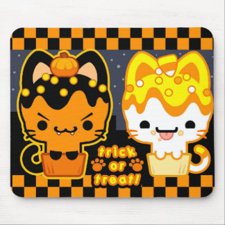 Halloween Cupcake Kitties Mousepad