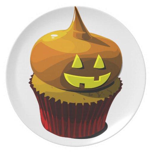 Halloween cupcake plate