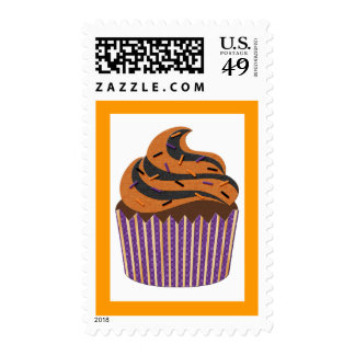 Halloween Cupcake Postage Stamps