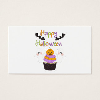 Halloween Cupcake Sign Business Card