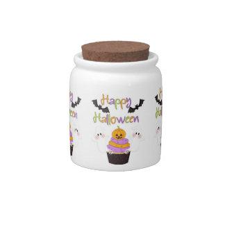 Halloween Cupcake Sign Candy Jar