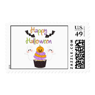 Halloween Cupcake Sign Postage Stamp