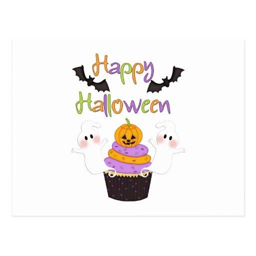 Halloween Cupcake Sign Postcard