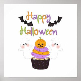 Halloween Cupcake Sign Poster