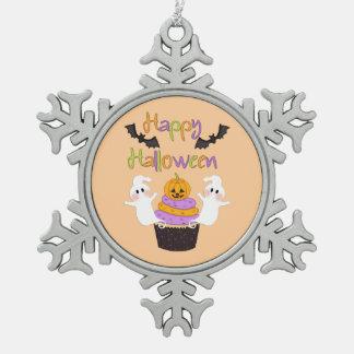 Halloween Cupcake Sign Snowflake Pewter Christmas Ornament