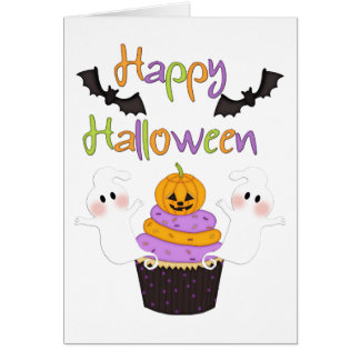 Halloween Cupcake Sign Stationery Note Card