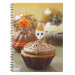 Halloween cupcake spiral note books