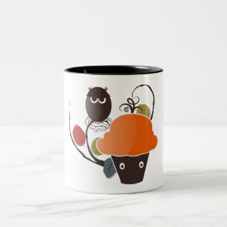 Halloween Cupcake Two-Tone Coffee Mug