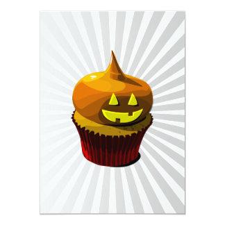 Halloween cupcake with blast line pattern 5x7 paper invitation card