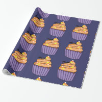 Halloween Cupcake Wrapping Paper