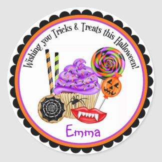 Halloween Cupcakes and Candy Stickers