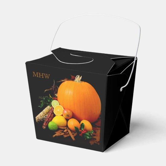 Halloween custom monogram favor box