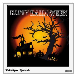 Halloween Custom Wall Decal/Spooky Scene Wall Sticker