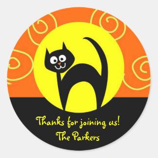 Halloween Customizable Cat Stickers