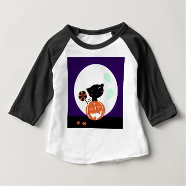 Halloween Themed Halloween cute Black kitten Edition Baby T-Shirt