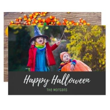 Halloween Themed Halloween Cute Candy Corn Skeleton Photo Card