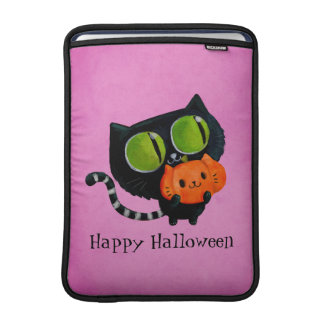 Halloween Cute Cat with pumpkin MacBook Air Sleeve
