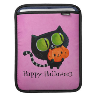 Halloween Cute Cat with pumpkin Sleeves For iPads