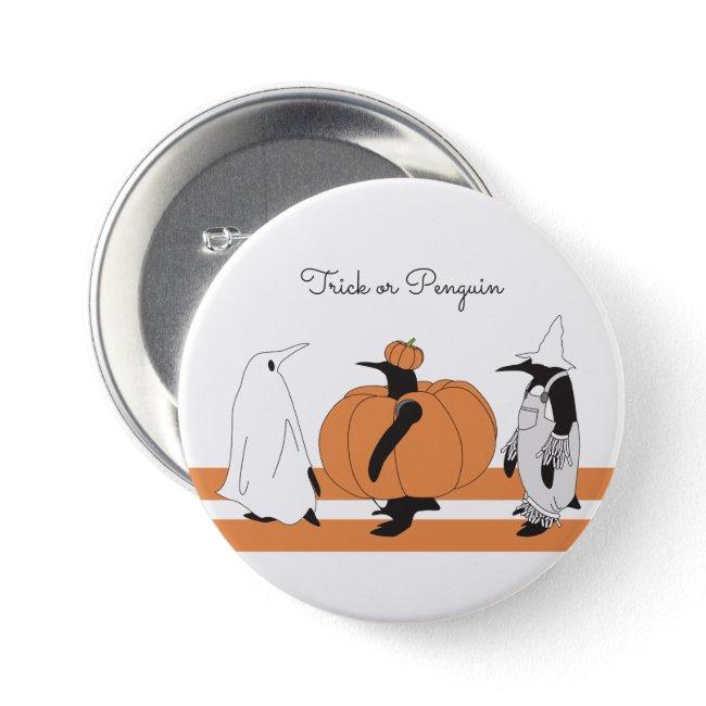 Halloween Cute Funny Penguin Pumpkin Cartoon