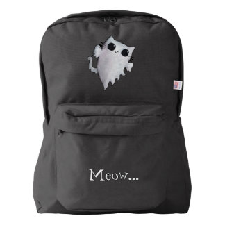 Halloween cute ghost cat backpack