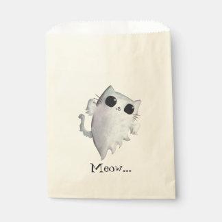 Halloween cute ghost cat favor bag