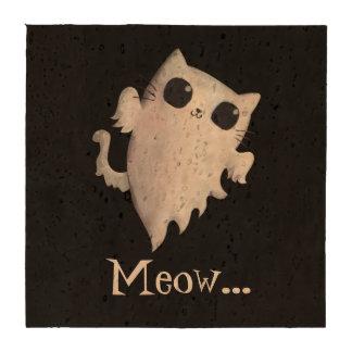 Halloween cute ghost cat coasters