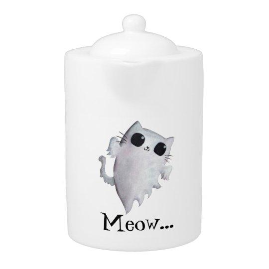 Halloween cute ghost cat teapot