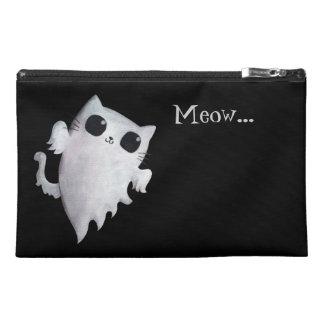 Halloween cute ghost cat travel accessory bag