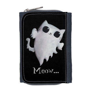 Halloween cute ghost cat wallets