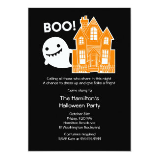 Halloween Cute Ghost Costume Party Invitation