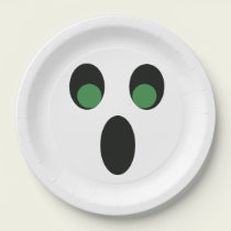 Halloween Cute Ghost Paper Plate