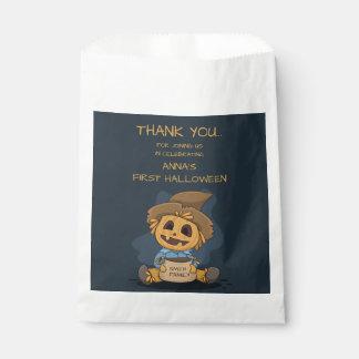 Halloween Cute Jack O' Lantern. Add Family Name. Favor Bag
